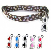 Cool Shades Cat Collar with 5 Interchangeable Charms